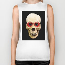 Day Of The Dead 3 by Sharon Cummings Biker Tank