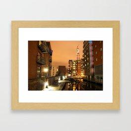 Birmingham and Fazeley Canal At Fleet Street Framed Art Print