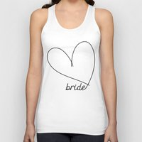 bride Tank Tops featuring Bride by Rose Gold