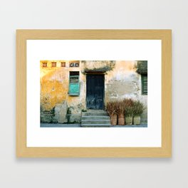 ANTIQUE CHINESE WALL of HOI AN in VIETNAM Framed Art Print