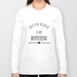 Purpose Is My Boy Friend Sweater Tour Concert Boyfriend T-Shirts Long Sleeve T-shirt