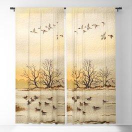 Hunting Pintail Ducks Blackout Curtain