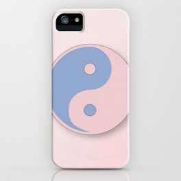 Ying Yang serenity blue and rose quarz iPhone Case