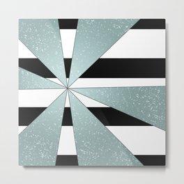 4Shades Glass: B/W Reverse Metal Print