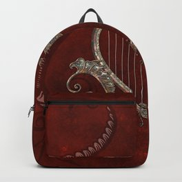 Elegant harp made from a heart  Backpack