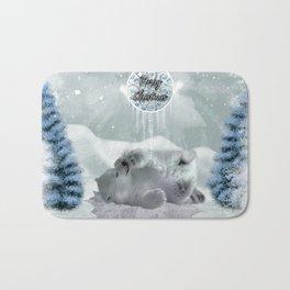 Cute polar bear baby Bath Mat