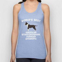 World's Best American Staffordshire Terrier Grandpa Unisex Tank Top