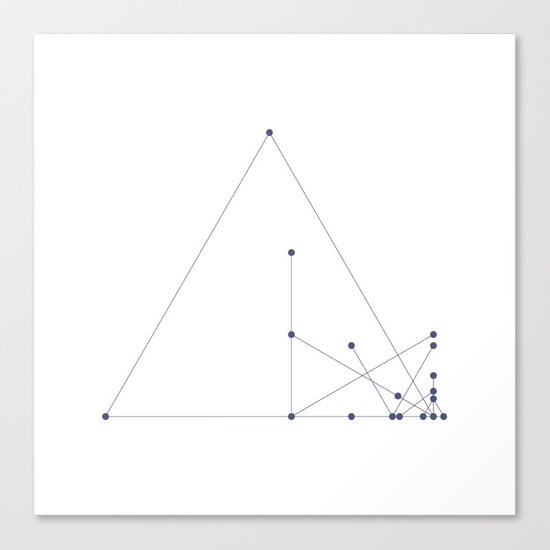 #331 Pyramid construction site – Geometry Daily Canvas Print