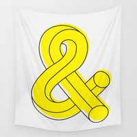 ampersand Wall Tapestries featuring Ampersand by MADEYOUL__K
