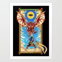 monster hunter Art Prints featuring Epic Monster Hunter by MeleeNinja