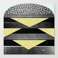 burger Canvas Prints featuring Burger by Martin Nicolausson