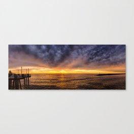 Redondo Beach Stormy Sunset Canvas Print