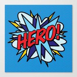 HERO Comic Book Pop Art Modern Fun Retro Canvas Print