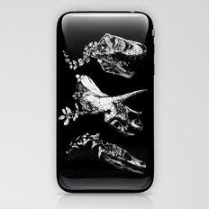 Jurassic Bloom - Black version. iPhone & iPod Skin