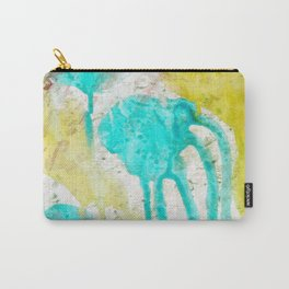 Artistic lime green teal hand painted watercolor Carry-All Pouch