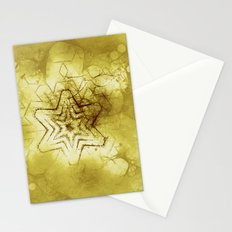 Star mandala in gold Stationery Cards