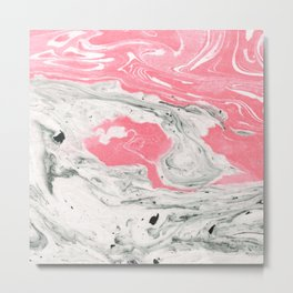 Marble + Bubblegum #society6 #decor #buyart Metal Print
