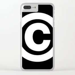 Copyright Sign (White & Black) Clear iPhone Case