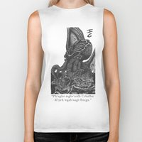 cthulhu Biker Tanks featuring Cthulhu by IG Design
