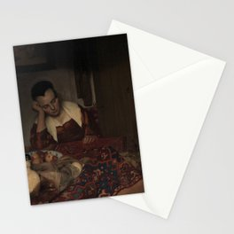 "Johannes Vermeer ""A Woman Asleep at Table"" Stationery Cards"