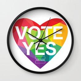 Australia Vote Yes Wall Clock