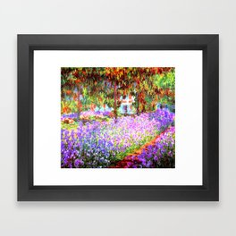 Monets Garden in Giverny Framed Art Print
