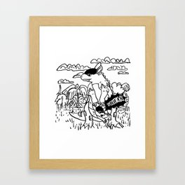 Squeak Framed Art Print