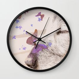 Day Dreaming - Old Dog's Nap - #society6 #buyart Wall Clock