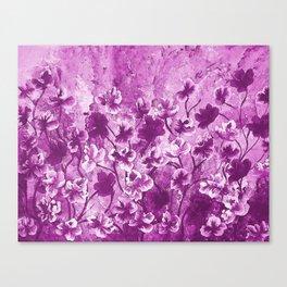 Purple Wild Flowers Canvas Print