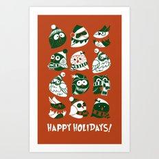 Elf Owls Art Print