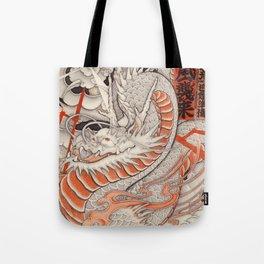 Japanese tattoo Typhoon dragon Tote Bag