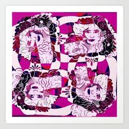 Poznanski-Cat -pattern6 Art Print