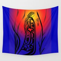 medicine Wall Tapestries featuring Medicine Woman Sunrise by Lou-ann Neel Studio