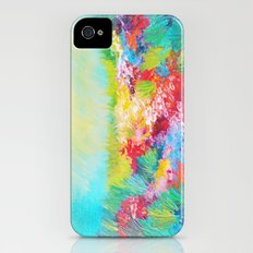 ETHERIAL DAYS - Stunning Floral Landscape Nature Wildflower Field Colorful Bright Floral Painting Slim Case iPhone (4, 4s)