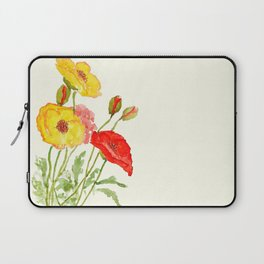 red and yellow  poppies Laptop Sleeve