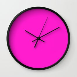 (Hot Magenta) Wall Clock