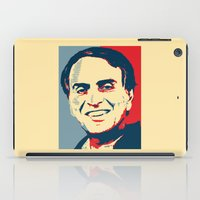 carl sagan iPad Cases featuring Carl Sagan 'Hope' by cvrcak