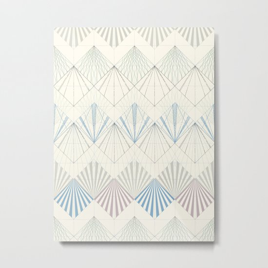 Muted Mellow Metal Print