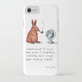 Pipe-smoking rabbit iPhone Case