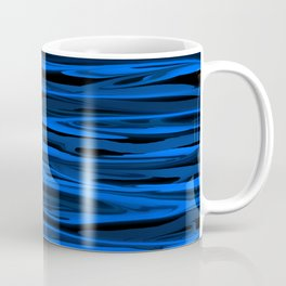 Slate Blue and Light Aqua Blue Stripes Coffee Mug