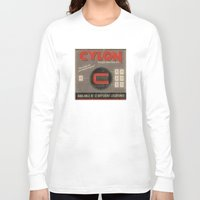 battlestar Long Sleeve T-shirts featuring Battlestar Galactica Vintage Matchbook Advertisement by Instant Classic