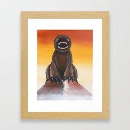 The Mountainest Monster Framed Art Print