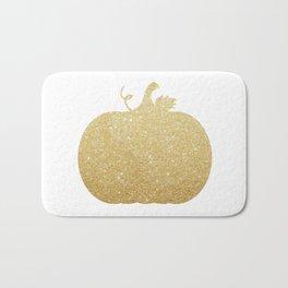 Gold Glitter Pumpkin Bath Mat