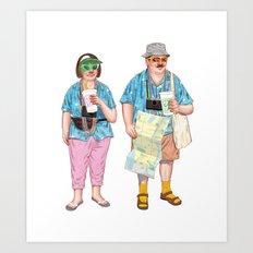 The Tourists Art Print