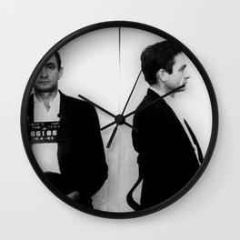 Johnny Cash Mug Shot Horizontal Wall Clock