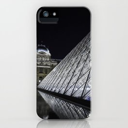Louvre at night - vertical iPhone Case