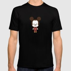 #49 Mouse MEDIUM Black Mens Fitted Tee
