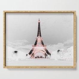 pariS Black & White + Pink copyright 2sweet4wordsDesigns Serving Tray