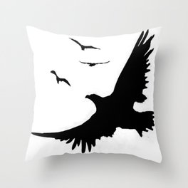 ORIGINAL DESIGN OF FLYING BLACK EAGLES ART Throw Pillow