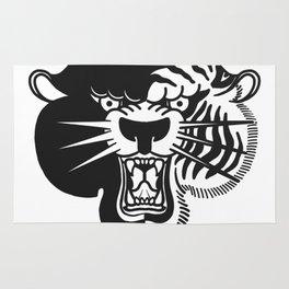 Half Tiger Half Panther Rug
